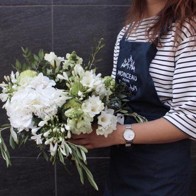 bouquet blanc hortensia agapanthe