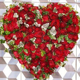coeur roses rouge
