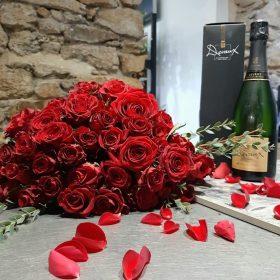 bouquet de roses rouges saint valentin