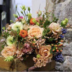 bouquet coloré rose lisianthus