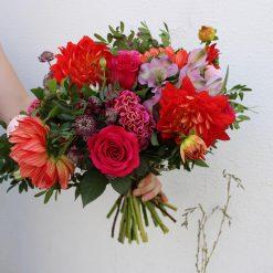 bouquet rouge dalhia